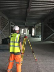 A measured building survey being undertaken by Technics