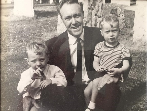 Graham (left) and his Dad Derrick (centre) with his brother (right)
